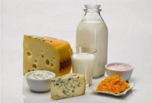 Milk food group still life